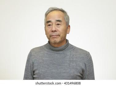 Portrait of senior Japanese man