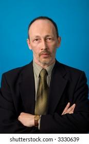 the portrait of senior man