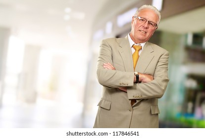 Portrait Of A Senior Man, Indoor
