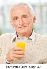 Portrait of a senior man relaxing