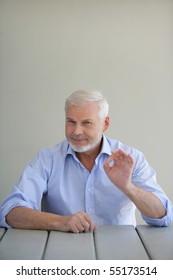 Portrait of a senior man satisfied