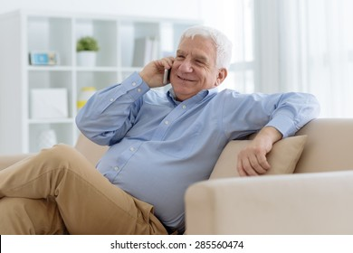 Portrait of a senior man talking on the phone
