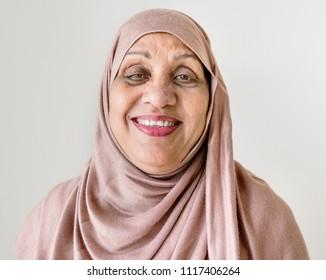 Portrait of a senior Muslim woman