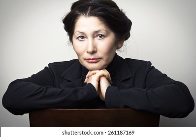 Portrait of  senior  woman asian  appearance
