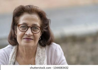Portrait of a senior woman in glasses