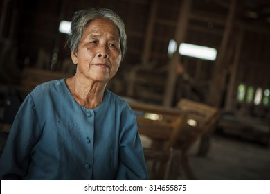 Portrait of senior woman at home, Lifestyle of Asian old women concept