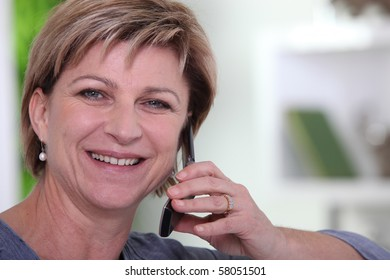 Portrait of a senior woman phoning
