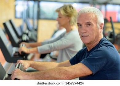 portrait of seniors doing some exercise