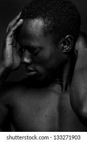 Portrait of a sensual African American Man