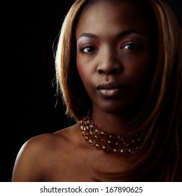 Portrait of a sensual African woman.