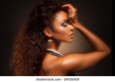 Portrait of a sexy beautiful woman