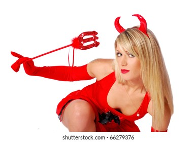 Portrait of a sexy devil
