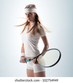 portrait of a sexy Female Tennis Player