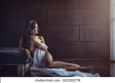 Portrait of sexy glamorous Asian girl