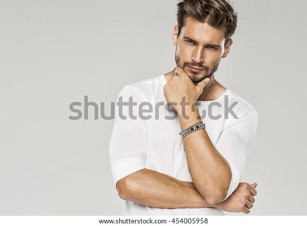 Portrait of sexy man
