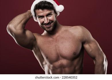 Portrait of sexy santa claus