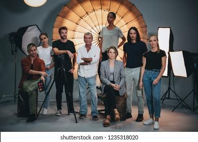 Portrait of a shoot production team
