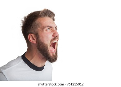 Portrait of a shouting man