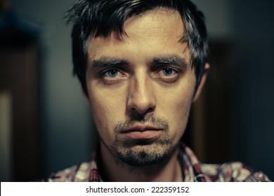 Portrait of a sick person