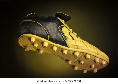 Portrait of a single soccer shoe