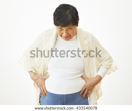 Portrait of a sixty years old woman ; obesity, fat, health care