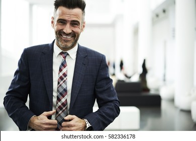 Portrait of skilled professional administrative feeling exciting finishing new startup project managing work of employees motivating and training staff members to reach goals in business development
