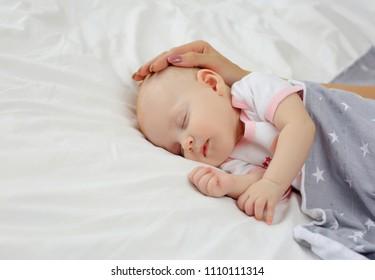 Portrait of a sleeping baby.