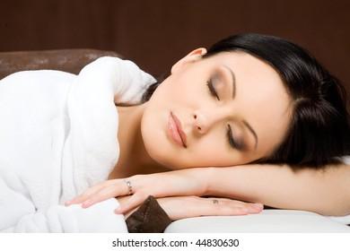 Portrait of sleeping woman