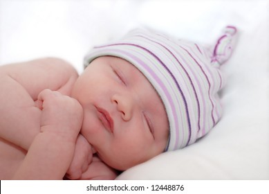 portrait of sleeping young baby