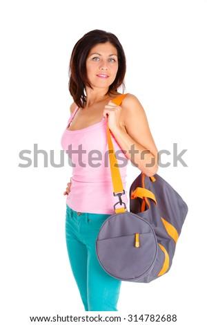 9b26347d69bd Portrait Slim Sports Body Figure Brunette Stock Photo (Edit Now ...