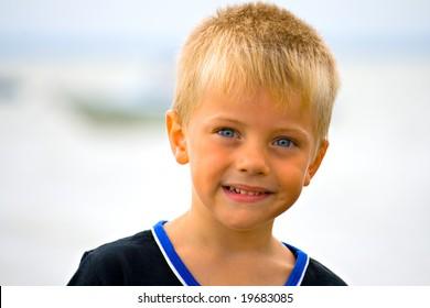 portrait of a small boy