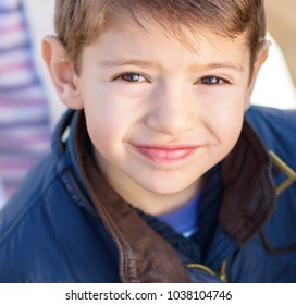 Portrait Of A Small Boy, Outdoors