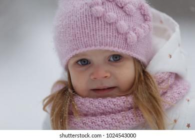 portrait of small cute girl