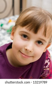 portrait of a small girl, close-up