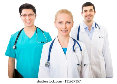 Portrait of a smart young doctors standing in a hospital