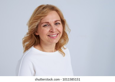 Portrait of smiley mature blond