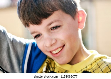 Portrait of a smiling boy.