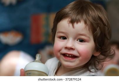 portrait smiling boy child