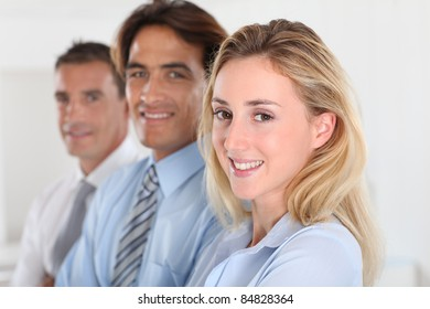 Portrait of smiling business team