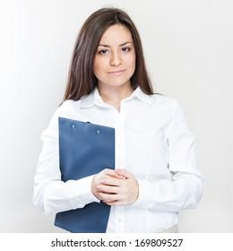Portrait of smiling business woman