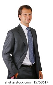 Portrait of a smiling businessman standing