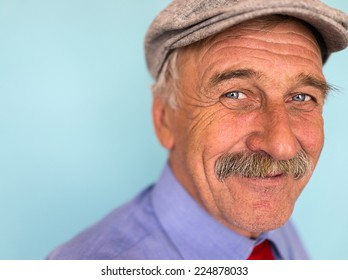 Portrait of a smiling and confident senior good looking business man