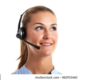 Portrait of a smiling customer representative