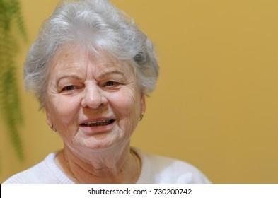 Portrait of a smiling elderly woman