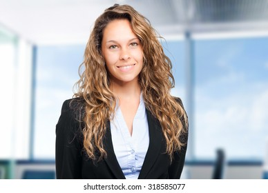 Portrait of a smiling female manager