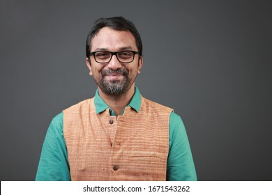 Portrait of a smiling man of Indian ethnicity