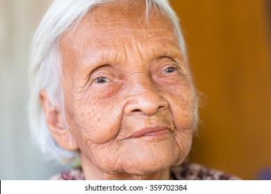 portrait of smiling senior asian woman