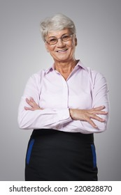 Portrait of smiling senior business woman