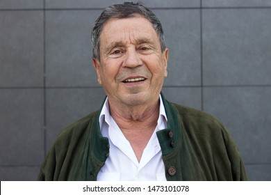 Portrait of a smiling senior man feeling great