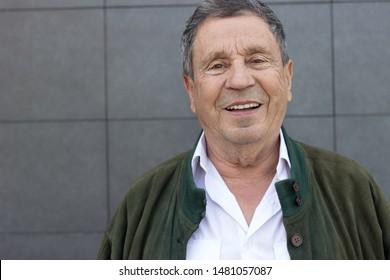 Portrait of a smiling senior man feeling great